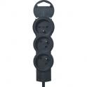 Bloc multiprise standard - bp 3x2p+t 1,5m fb noir - Legrand