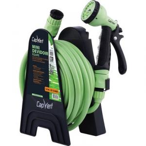 Dévidoir de tuyau d'arrosage portable équipé - Cap Vert