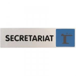 Plaque signalétique obligation / information - bleu - secretariat - Novap