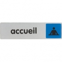 Plaque signalétique obligation / information - bleu - accueil - Novap