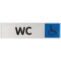 Plaque signalétique obligation / information - bleu - wc handicape - Novap