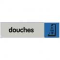Plaque signalétique obligation / information - bleu - douche - Novap