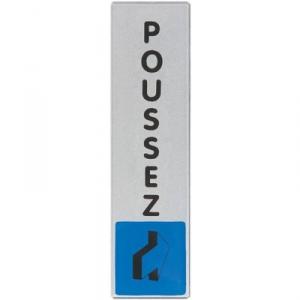 Plaque signalétique obligation / information - bleu - poussez - Novap