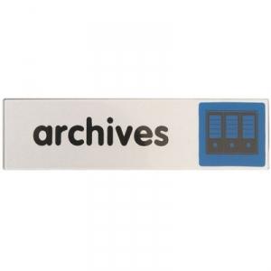 Plaque signalétique obligation / information - bleu - signalisation archives - Novap