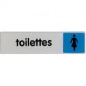 Plaque signalétique obligation / information - bleu - toilette femme - Novap
