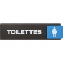 Plaquette signalétique Europe Access - toilette femme - Novap