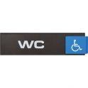 Plaquette signalétique Europe Access - wc handicape - Novap