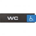 Plaquette signalétique Europe Access - wc handicape - Novap