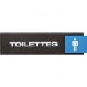 Plaquette signalétique Europe Access - toilette homme - Novap