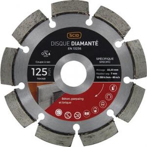 Disque diamant à déjointoyer - Ø 125 mm - Tous matériaux - SCID