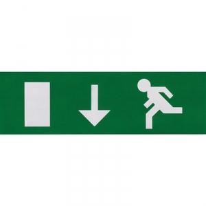 Etiquette de signalisation adhésive pour bloc lumineux - fleche vers le bas - Luminox