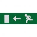 Etiquette de signalisation adhésive pour bloc lumineux - fleche gauche - Luminox