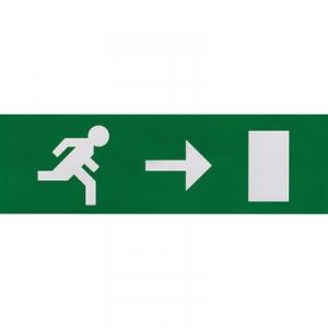 Etiquette de signalisation adhésive pour bloc lumineux - fleche droite - Luminox