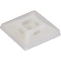 Embase adhésive incolore pour collier - 4,7mm/100 - Klauke
