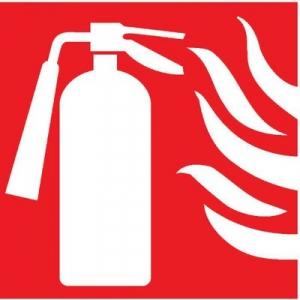 Panneau prévention incendie - panneau exctincteur+flammes - Novap