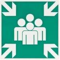 Panneaux d'évacuation - secours - rassemblement - Novap