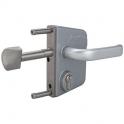 Serrure de portail coulissant en applique inox - Clé I - Axe à 30 mm - Profil 60 mm - LSKZ - Locinox