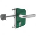 Serrure de portail coulissant en applique verte - Clé I - Axe à 30 mm - Profil 60 mm - LSKZ - Locinox