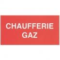 Étiquette plastique rigide rectangulaire - chaufferie gaz - Coditherm