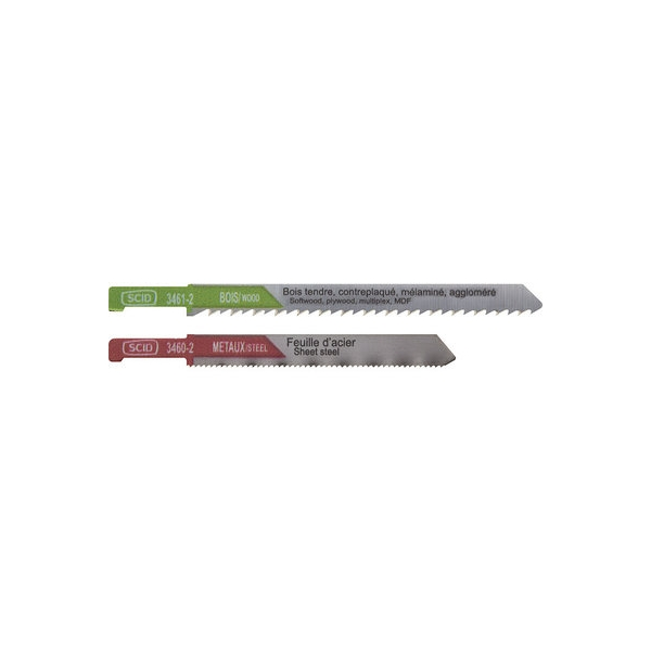 Assortiment 2 lames de scie sauteuse accroche Peugeot - lam ssaut lot 2 pces peugeot - SCID