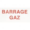 Étiquette plastique rigide rectangulaire - barrage gaz - Coditherm
