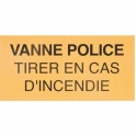 Étiquette plastique rigide rectangulaire - vanne police - Coditherm