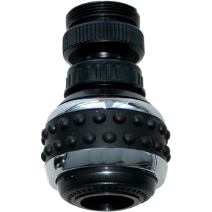 Aérateur orientable noir - M 24 x 100 - F 22 x 100 - 2 jets - Neoperl
