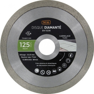 Disque diamant à tronçonner usage intensif - Ø 125 mm - Carrelage - SCID