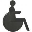 Idéogramme nylon adhésif - handicape gris - Normbau