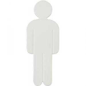 Idéogramme nylon adhésif - homme blanc - Normbau
