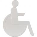 Idéogramme nylon adhésif - handicape blanc - Normbau