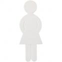 Idéogramme nylon adhésif - femme blanc - Normbau