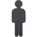 Idéogramme nylon adhésif - homme gris foncé - Normbau