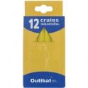Craie industrielle jaune - boite de 12 - Outibat