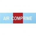 Étiquette autocollante - air comprime 100x30 - Novap