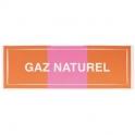 Étiquette autocollante - gaz naturel 100x30 - Novap
