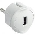 Chargeur USB encombrement réduit - blanc - Legrand