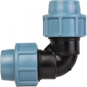Raccord plastique coudé à 90° à serrage - Ø 16 mm - Sélection Cazabox