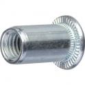 Insert court en acier tête plate - m6/100 - Rifix