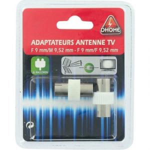 Adaptateur tv - Ø 9.52/9 f/m+f/f - Dhome