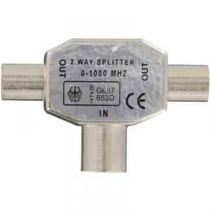 Répartiteur TV blindé Ø 9,52 mm 1f/2m - Dhome