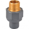 "Raccord PVC pression droit - Ø 50 / 63 - Filetage laiton M 1""1/2 - Girpi"