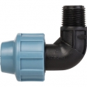 """Coude plastique fileté mâle - Ø 16 mm - M 1/2"""" - Sélection Cazabox"""