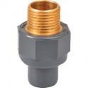 "Raccord PVC pression droit - Ø 40 / 50 - Filetage laiton M 1""1/4 - Girpi"