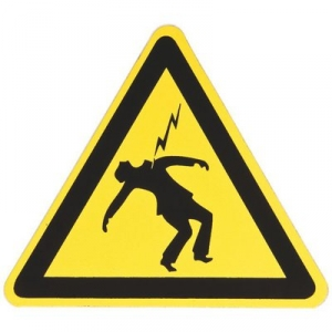 Panneau d'avertissement - danger électrique sur personne - 100mm - Klauke