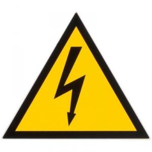 Panneau d'avertissement - danger électrique - 100mm - Klauke