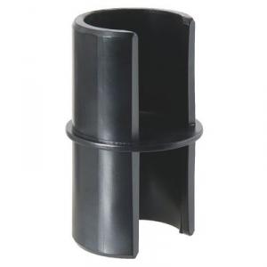 Manchon droit noir pour main courante - Vachette