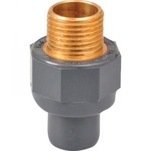 "Raccord PVC pression droit - Ø 32 / 40 - Filetage laiton M 1"" - Girpi"