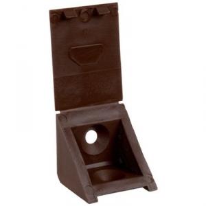 Taquet équerre cache attaché marron - 2 trous - Prunier