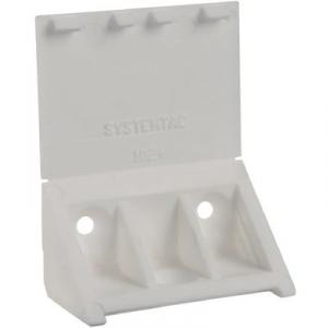 Taquet équerre cache attaché blanc - 3 trous - Prunier